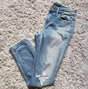 Joe's distressed crop jeans